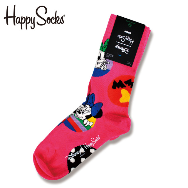 Happy Socks(ハッピーソックス)/【Disneyディズニーコラボ】Daisy&Minnie Dot(デイジー アンド ミニー ドット )