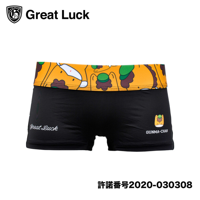 Great Luck(Designed in Japan)/ 【レディース】グレイトラック ぐんまちゃん(シンプルブラック)