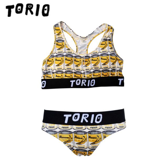TORIO(トリオ)/LADY'Sブラジャー・パンツSET バナナ缶(Tバック)