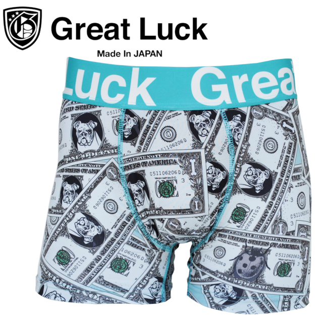 Great Luck(made inJAPAN)/JO ドル札(ブルドッグ柄)