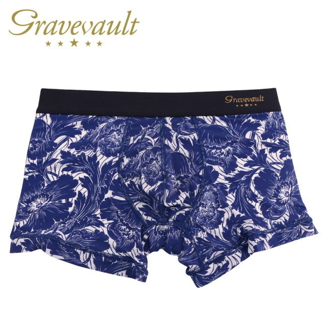 Gravevault(グレイブボールト)/FLOWER(ホワイト×ネイビー)