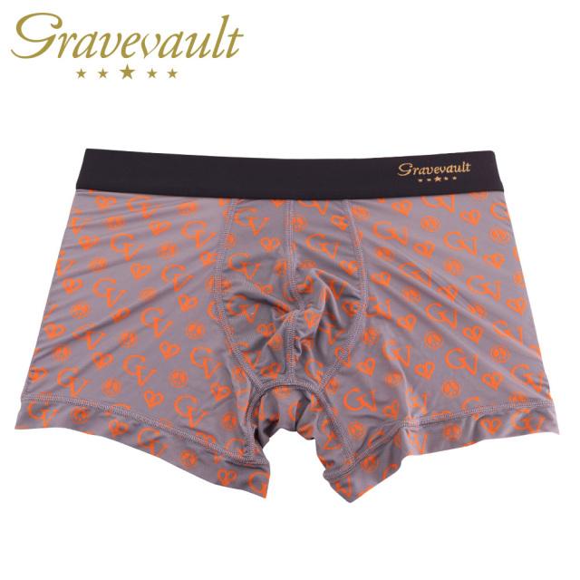 Gravevault(グレイブボールト)/GV monogram(グレー×オレンジ)