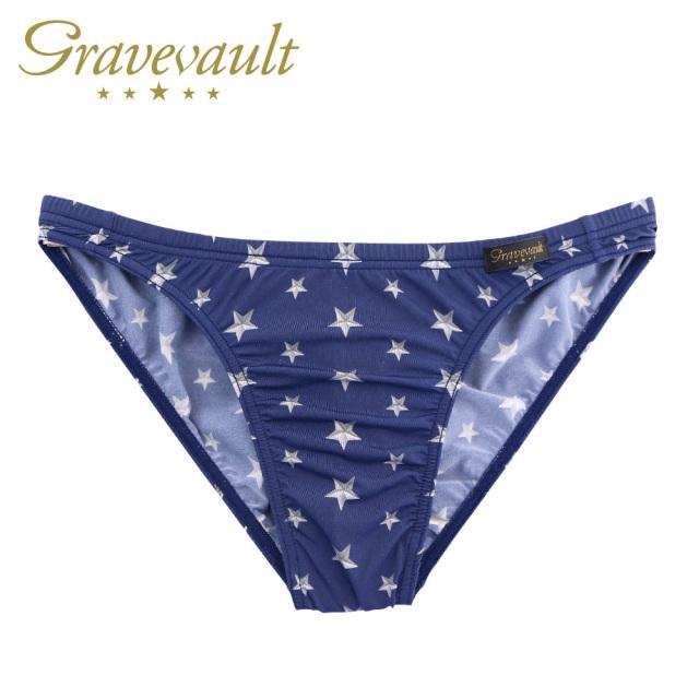 Gravevault(グレイブボールト)/Star Studs Bikini(ネイビー×シルバー)