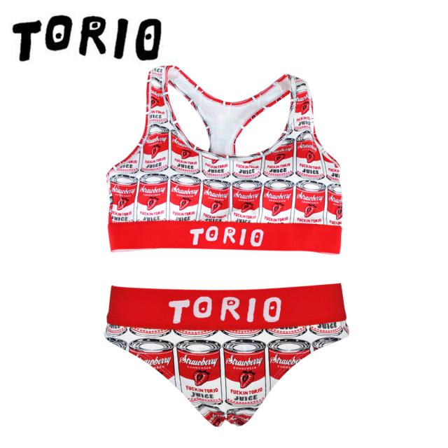 TORIO(トリオ)/LADY'Sブラジャー・パンツSET イチゴ缶(Tバック)
