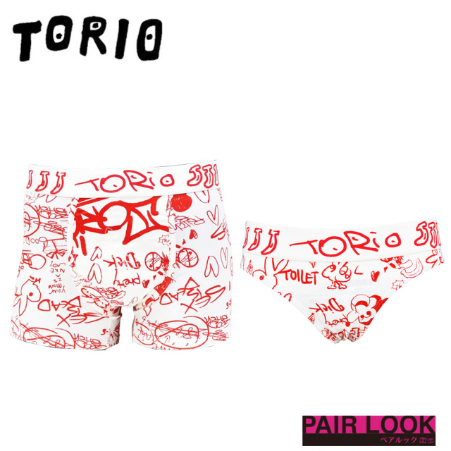 TORIO(トリオ)/ペア商品 TOILET GRAFFITI(トイレグラフィティ)(Tバック)