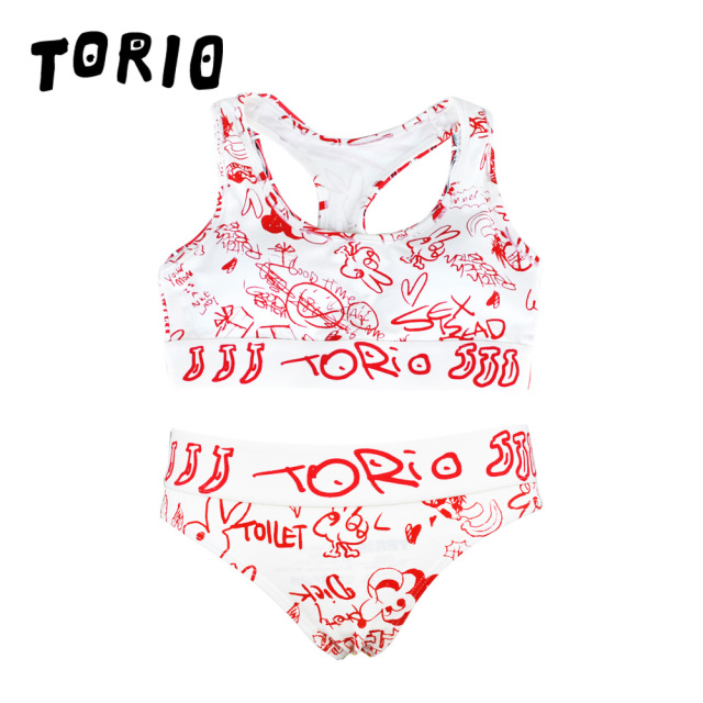 TORIO(トリオ)/LADY'Sブラジャー・パンツSET TOILET GRAFFITI(トイレグラフィティ)(Tバック)