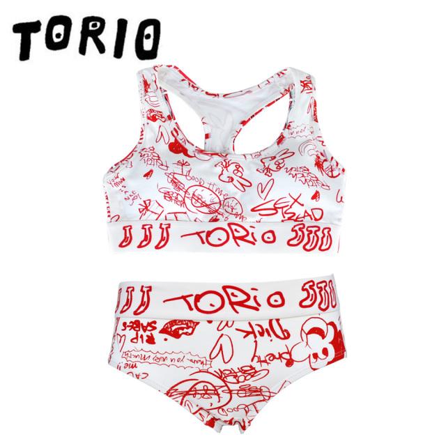 TORIO(トリオ)/LADY'Sブラジャー・パンツSET TOILET GRAFFITI(トイレグラフィティ)