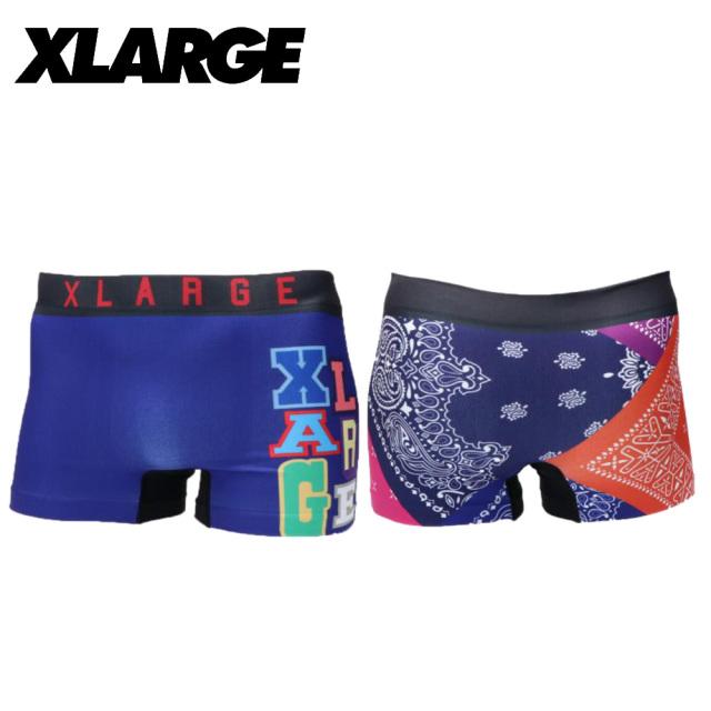 X-LARGE(エクストララージ)/成型バンダナ(ブルー)