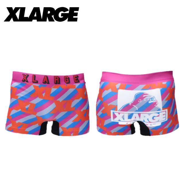 X-LARGE(エクストララージ)/成型ロゴ総柄(ピンク)