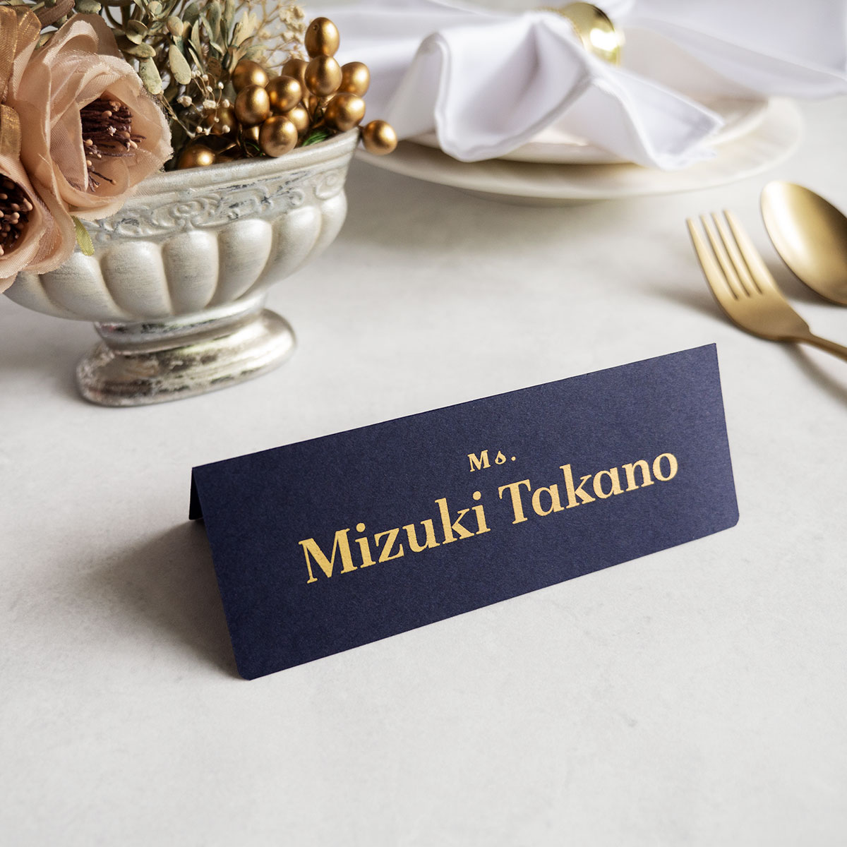 席札・Wedding Name Plate ~金箔印字~ 【英語ver.】