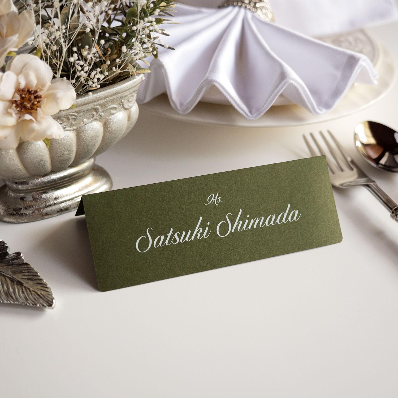 席札・Wedding Name Plate ~ホワイト印字~ 【英語_DIP】
