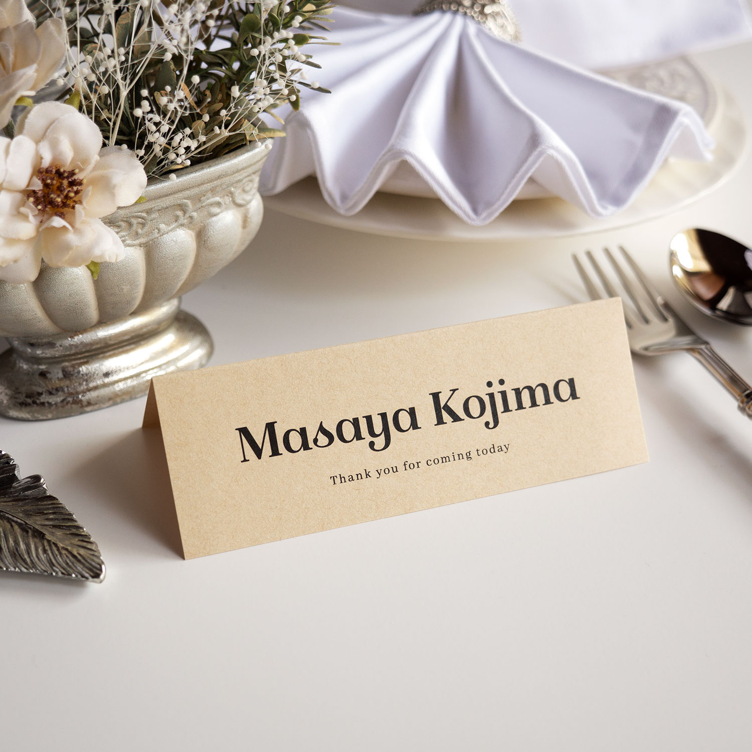 席札・Wedding Name Plate 【英語_ISA】