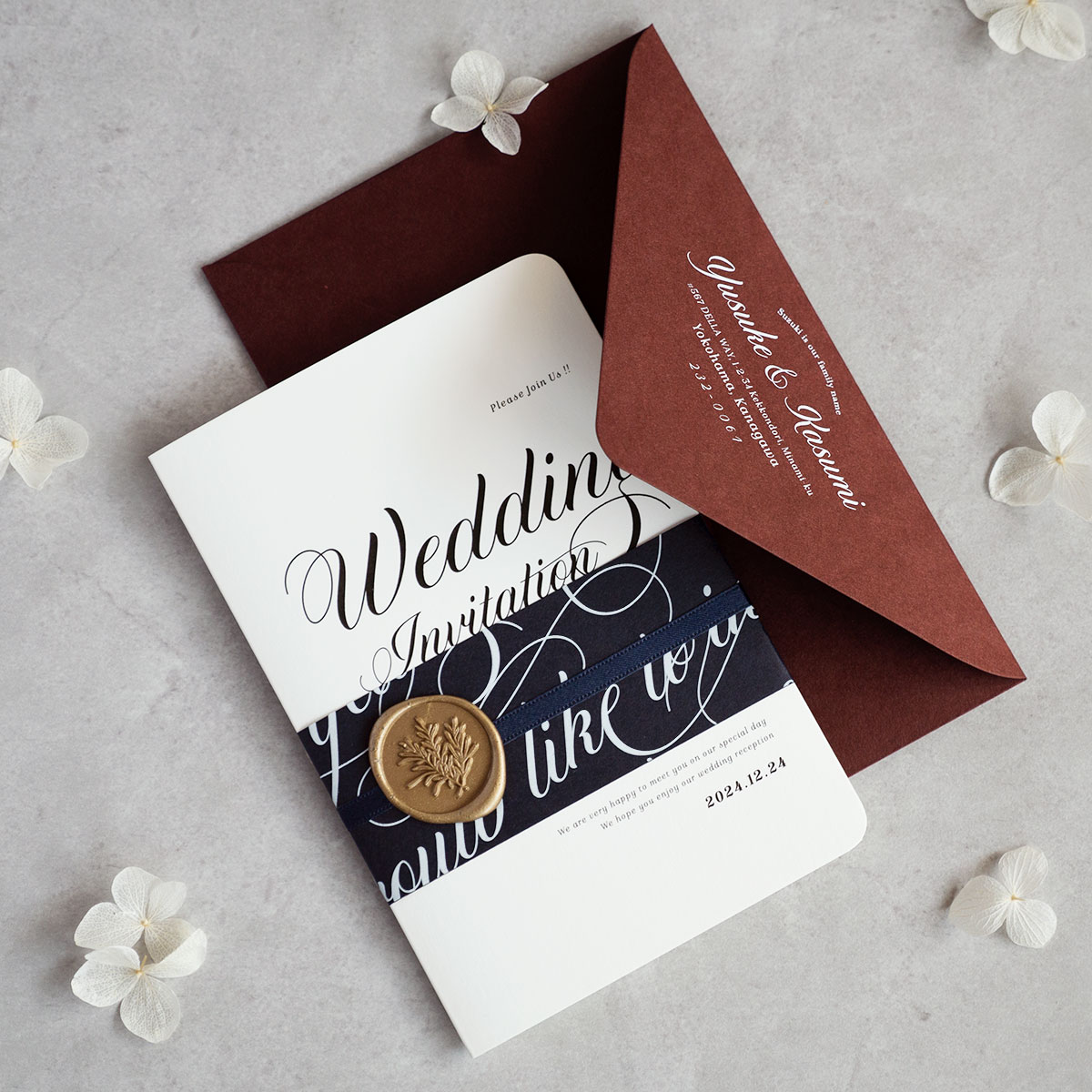 招待状セット Wedding Invitation 【design-LET】
