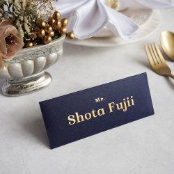 封筒席札・Envelop Name Plate ~金箔印字~ 【英語ver.】