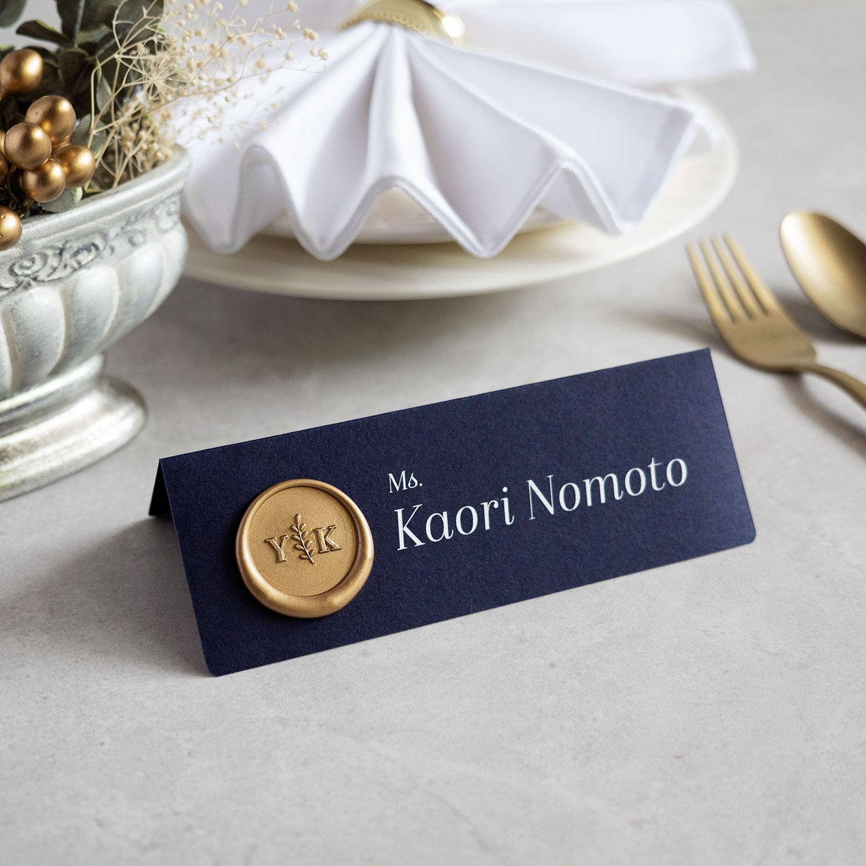 席札・Wedding Name Plate 【英語_ISA】【シーリングスタンプ仕様】