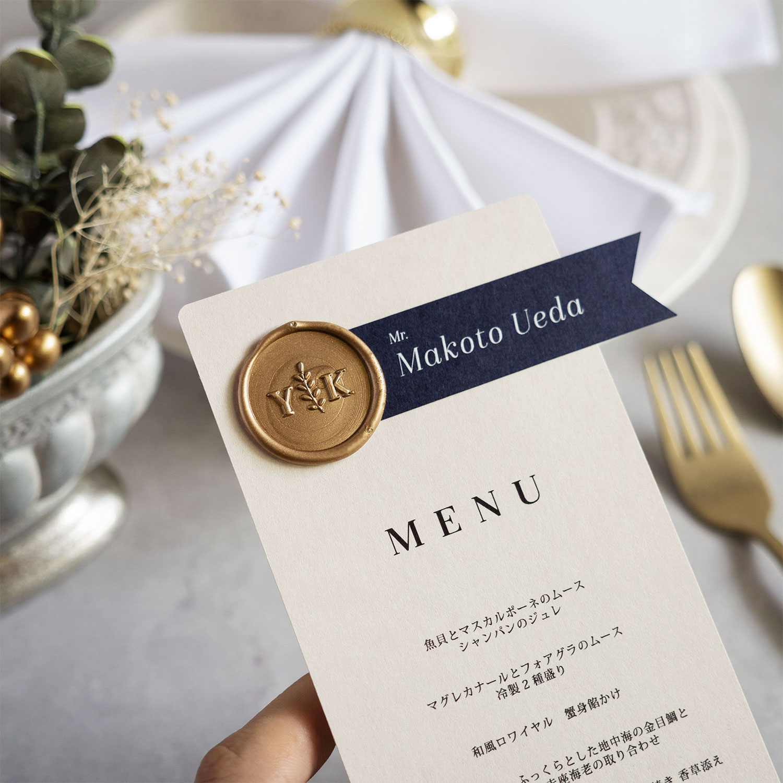 メニュー表+席札・Wedding Deep Menu 【design-ISA】