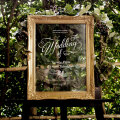 ナチュラル結婚式におすすめ!透明板のウェルカムボード