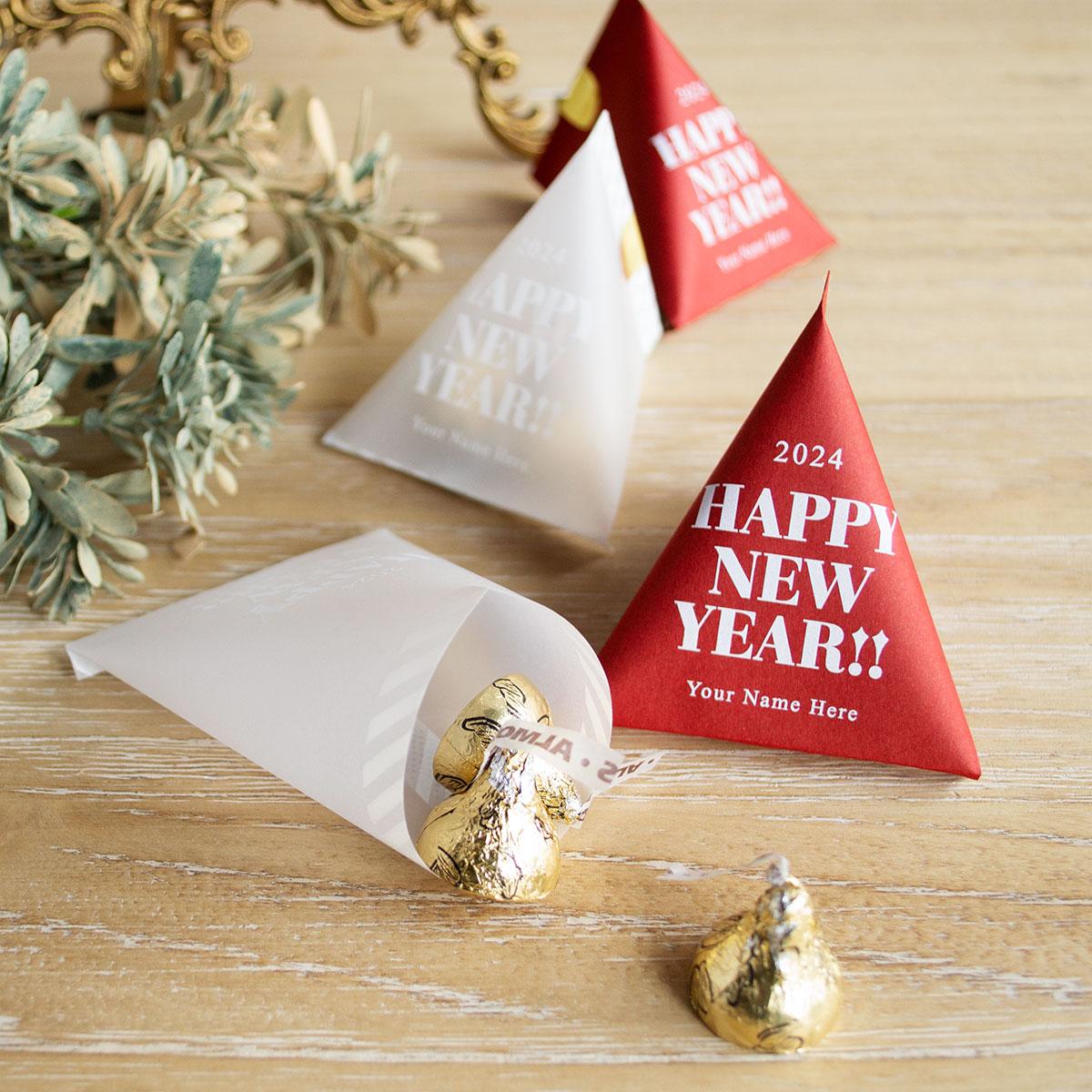 新年のイベントやパーティーで!!HappyNewYearテトラパック手作りキット【プチギフト】