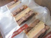 冷凍牛タンとフォアグラのモザイコスライス