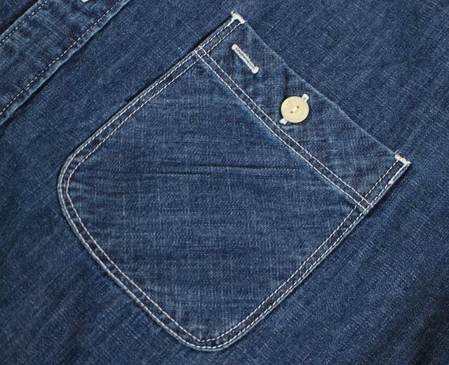 ファイブブラザー デニムワークシャツ 長袖