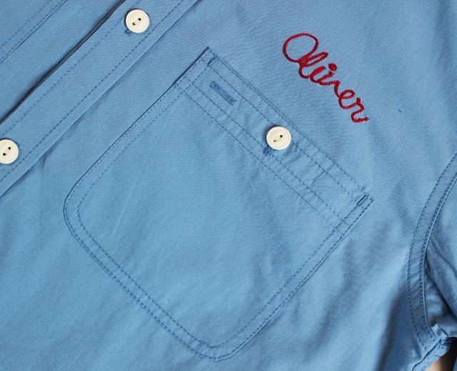 ファイブラザー 長袖 刺繍 ワークシャツ