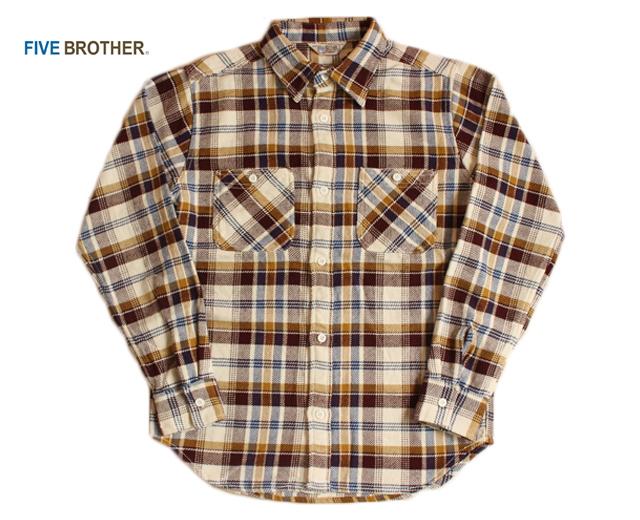 ファイブブラザー FIVE BROTHER ヘビーネルシャツ