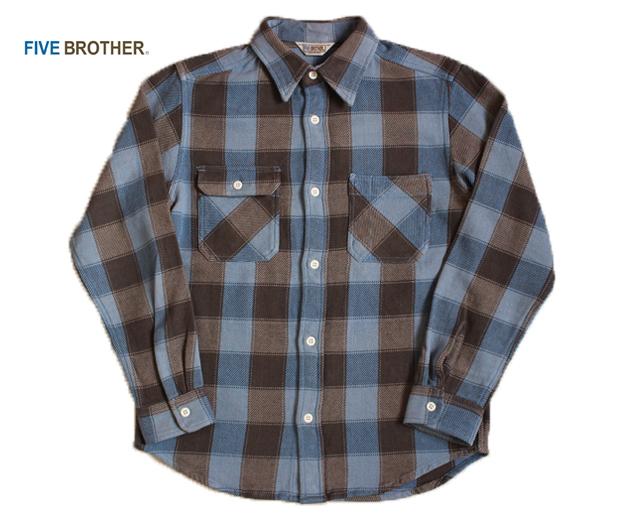 ファイブブラザー FIVE BROTHER EXヘビーネルシャツ