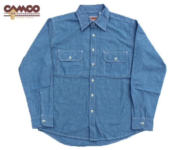 カムコ シャンブレーシャツ 長袖