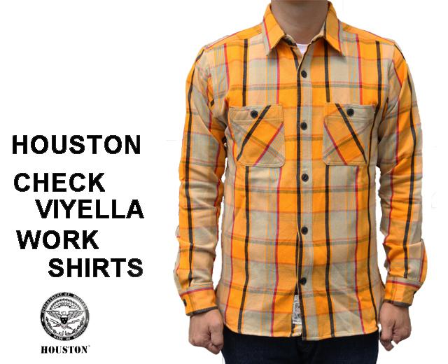 ヒューストン ビエラ チェック ネルシャツ