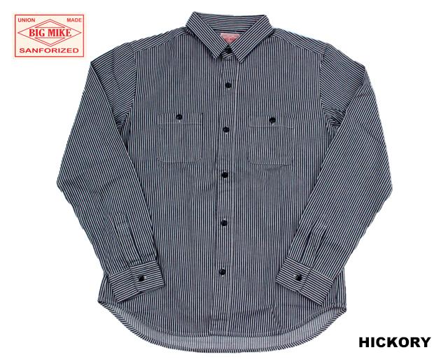 BIGMIKE ヒッコリーストライプワークシャツ