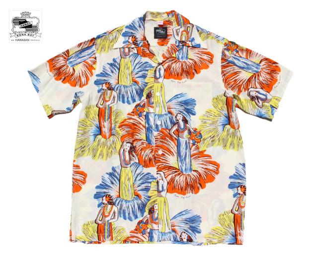コナベイハワイ アロハシャツ フラガール