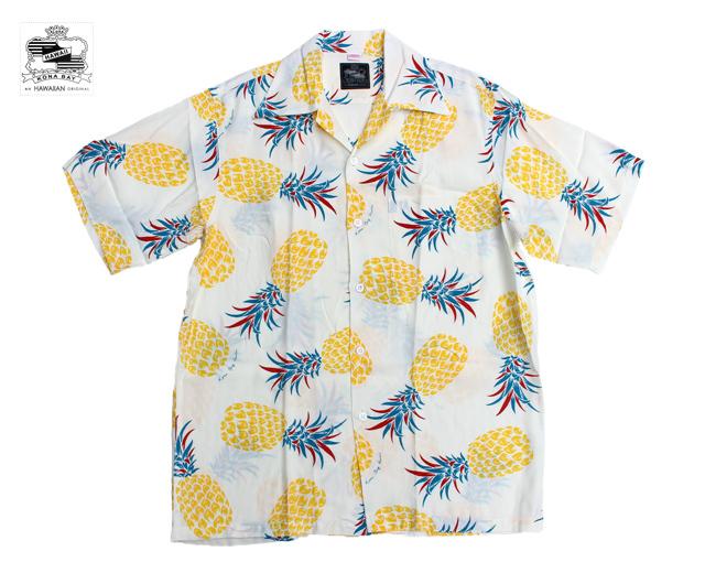 コナベイハワイ アロハシャツ パイナップル