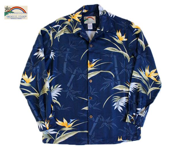 pパラダイスファウンド アロハシャツ 長袖 ハワイ製