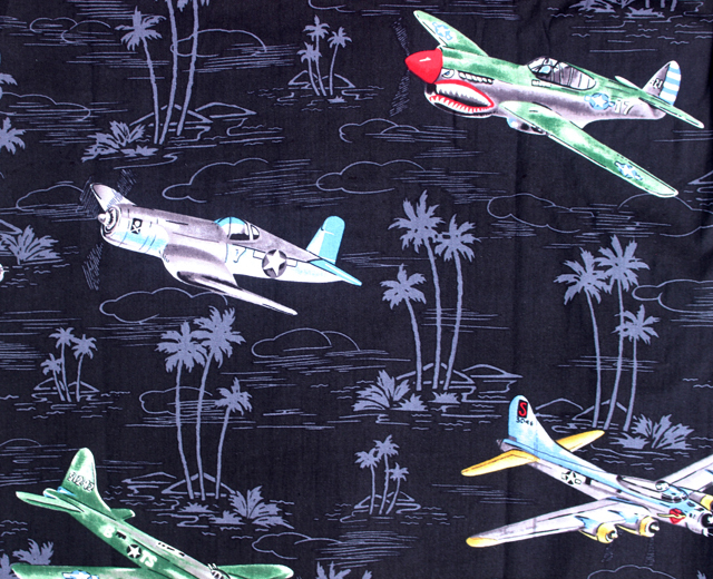 RJC アロハシャツ 戦闘機 飛行機