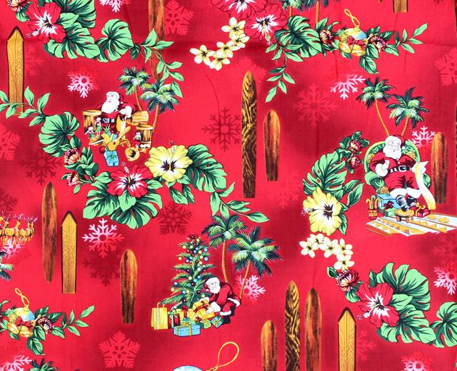 RJC アロハシャツ ハワイ製 サンタ クリスマス