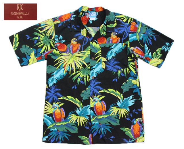 RJC アロハシャツ ボーイズサイズ オウム 鳥
