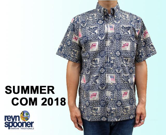 レインスプーナーアロハシャツ サマー2018