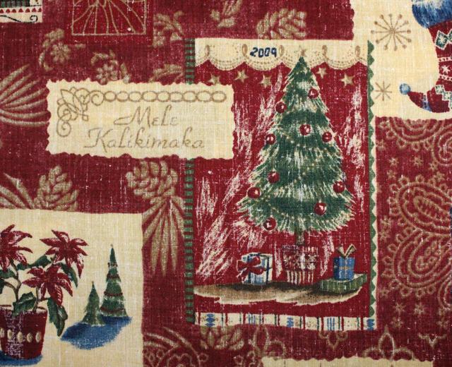 レインスプーナー アロハシャツ 長袖 クリスマス2009