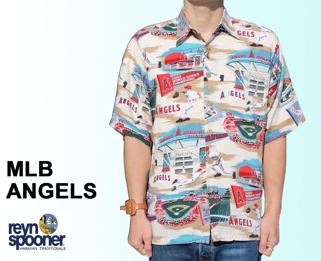 レインスプーナー アロハシャツ エンゼルス MLB