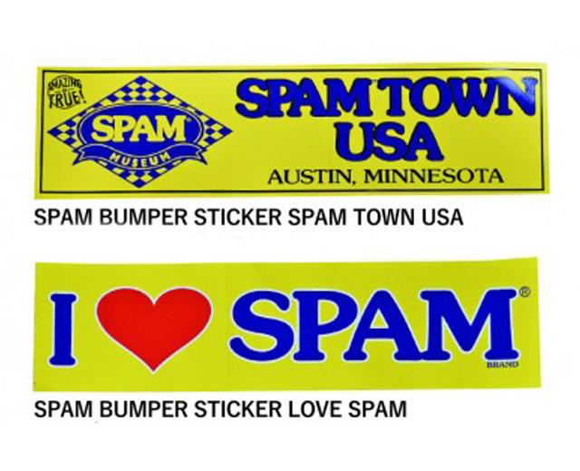 SPAMスパムバンパーステッカー