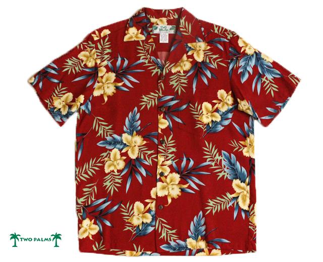 トゥーパームス アロハシャツ レーヨン ハワイ製