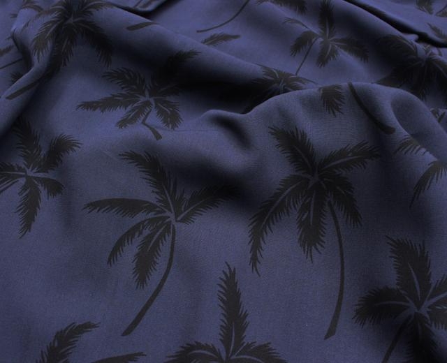 トゥーパーム長袖 アロハシャツ ハワイ製