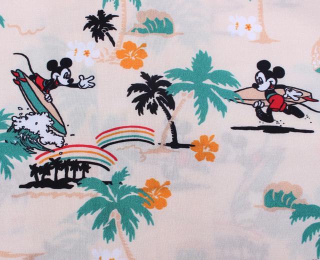 トゥーパームス アロハシャツ ディズニー ミッキーマウス