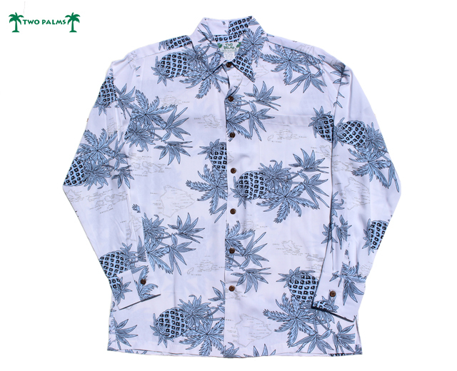 トゥーパームス 長袖 アロハシャツ ハワイ製