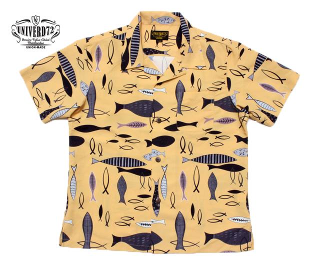 ユニバード72 アロハシャツ 魚