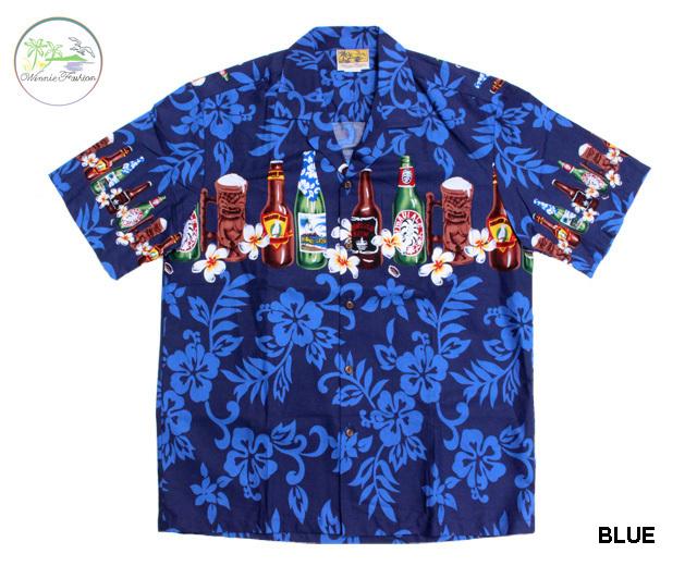 ウィーニーファッション アロハシャツ ハワイ製 ビール