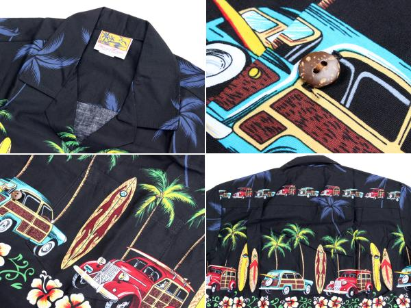 ウィーニーファッション アロハシャツ ハワイ製 ウッディ―カー
