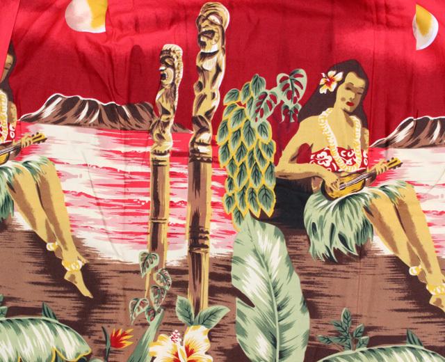 ウィーニーファッション アロハシャツ ハワイ製 フラガール