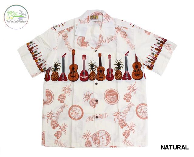 ウィーニーファッション アロハシャツ ハワイ製 ウクレレ
