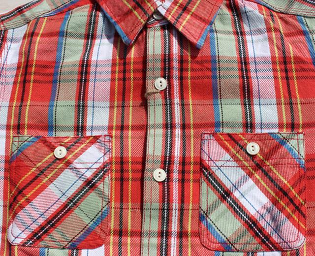 ヒューストン,ネルシャツ,ワークシャツ,チェックシャツ,